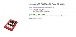 Corsair CSSD-F90GBGS-BK Force GS 90 GB